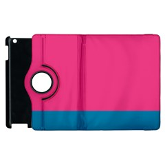 Flag Color Pink Blue Apple Ipad 3/4 Flip 360 Case by Alisyart