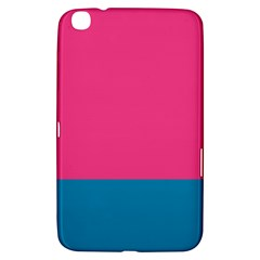 Flag Color Pink Blue Samsung Galaxy Tab 3 (8 ) T3100 Hardshell Case  by Alisyart