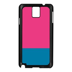 Flag Color Pink Blue Samsung Galaxy Note 3 N9005 Case (black) by Alisyart