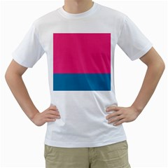 Flag Color Pink Blue Men s T-shirt (white)  by Alisyart