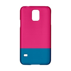 Flag Color Pink Blue Samsung Galaxy S5 Hardshell Case  by Alisyart