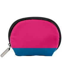 Flag Color Pink Blue Accessory Pouches (small)