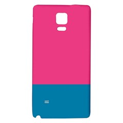 Flag Color Pink Blue Galaxy Note 4 Back Case by Alisyart
