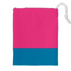 Flag Color Pink Blue Drawstring Pouches (xxl)