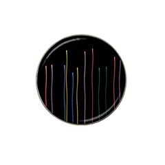 Falling Light Lines Color Pink Blue Yellow Hat Clip Ball Marker
