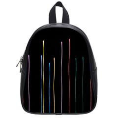 Falling Light Lines Color Pink Blue Yellow School Bags (small)  by Alisyart