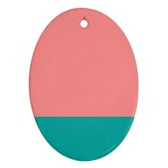 Flag Color Pink Blue Line Ornament (oval) by Alisyart