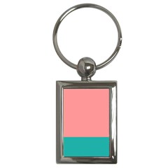 Flag Color Pink Blue Line Key Chains (rectangle)  by Alisyart
