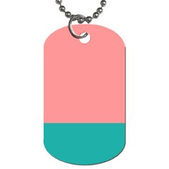 Flag Color Pink Blue Line Dog Tag (two Sides) by Alisyart