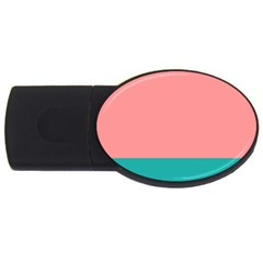 Flag Color Pink Blue Line Usb Flash Drive Oval (2 Gb) by Alisyart