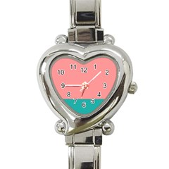 Flag Color Pink Blue Line Heart Italian Charm Watch