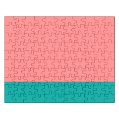 Flag Color Pink Blue Line Rectangular Jigsaw Puzzl by Alisyart