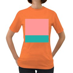 Flag Color Pink Blue Line Women s Dark T Shirt by Alisyart