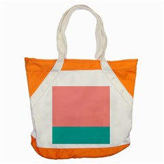 Flag Color Pink Blue Line Accent Tote Bag by Alisyart