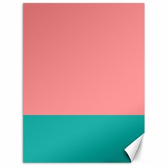 Flag Color Pink Blue Line Canvas 36  X 48   by Alisyart