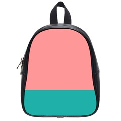 Flag Color Pink Blue Line School Bags (small)  by Alisyart