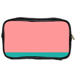 Flag Color Pink Blue Line Toiletries Bags by Alisyart