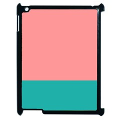 Flag Color Pink Blue Line Apple Ipad 2 Case (black) by Alisyart