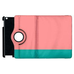 Flag Color Pink Blue Line Apple Ipad 2 Flip 360 Case by Alisyart