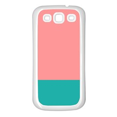 Flag Color Pink Blue Line Samsung Galaxy S3 Back Case (white)