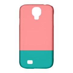 Flag Color Pink Blue Line Samsung Galaxy S4 Classic Hardshell Case (pc+silicone) by Alisyart