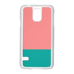 Flag Color Pink Blue Line Samsung Galaxy S5 Case (white)