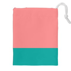 Flag Color Pink Blue Line Drawstring Pouches (xxl) by Alisyart
