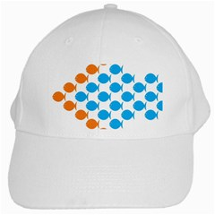 Fish Arrow Orange Blue White Cap by Alisyart