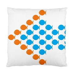 Fish Arrow Orange Blue Standard Cushion Case (one Side)