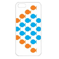 Fish Arrow Orange Blue Apple Iphone 5 Seamless Case (white) by Alisyart