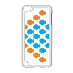 Fish Arrow Orange Blue Apple Ipod Touch 5 Case (white)