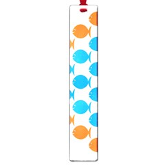Fish Arrow Orange Blue Large Book Marks
