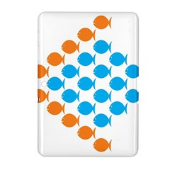 Fish Arrow Orange Blue Samsung Galaxy Tab 2 (10 1 ) P5100 Hardshell Case  by Alisyart