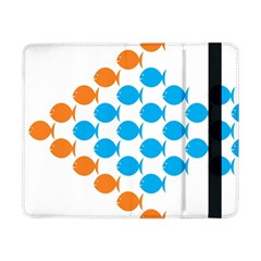 Fish Arrow Orange Blue Samsung Galaxy Tab Pro 8 4  Flip Case by Alisyart