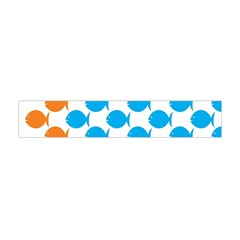 Fish Arrow Orange Blue Flano Scarf (mini) by Alisyart
