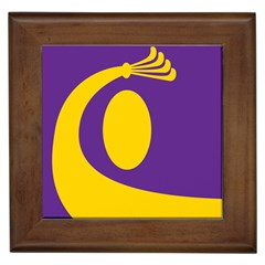 Flag Purple Yellow Circle Framed Tiles