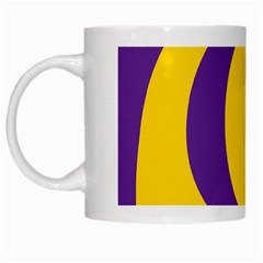 Flag Purple Yellow Circle White Mugs