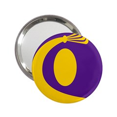 Flag Purple Yellow Circle 2 25  Handbag Mirrors by Alisyart