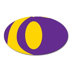 Flag Purple Yellow Circle Oval Magnet by Alisyart
