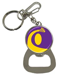 Flag Purple Yellow Circle Button Necklaces