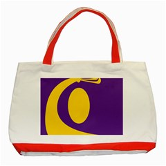 Flag Purple Yellow Circle Classic Tote Bag (red) by Alisyart