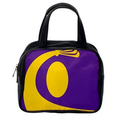 Flag Purple Yellow Circle Classic Handbags (one Side) by Alisyart
