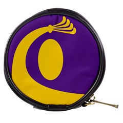 Flag Purple Yellow Circle Mini Makeup Bags by Alisyart