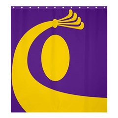 Flag Purple Yellow Circle Shower Curtain 66  X 72  (large)  by Alisyart