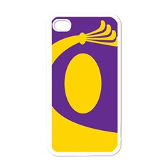 Flag Purple Yellow Circle Apple Iphone 4 Case (white) by Alisyart