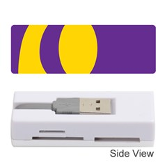 Flag Purple Yellow Circle Memory Card Reader (stick)  by Alisyart