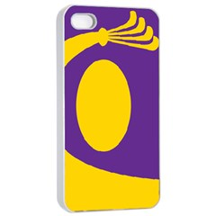 Flag Purple Yellow Circle Apple Iphone 4/4s Seamless Case (white) by Alisyart