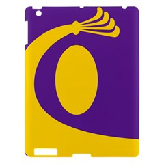 Flag Purple Yellow Circle Apple Ipad 3/4 Hardshell Case by Alisyart