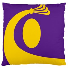 Flag Purple Yellow Circle Large Cushion Case (one Side) by Alisyart