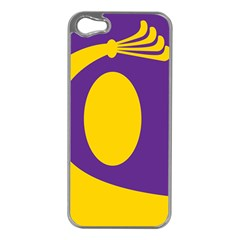 Flag Purple Yellow Circle Apple Iphone 5 Case (silver) by Alisyart